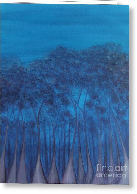 Last Light Karri Greeting Card by Leonie Higgins Noone