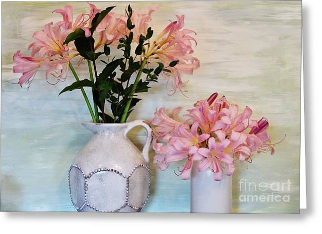 Last Of My Lilies Greeting Card by Marsha Heiken