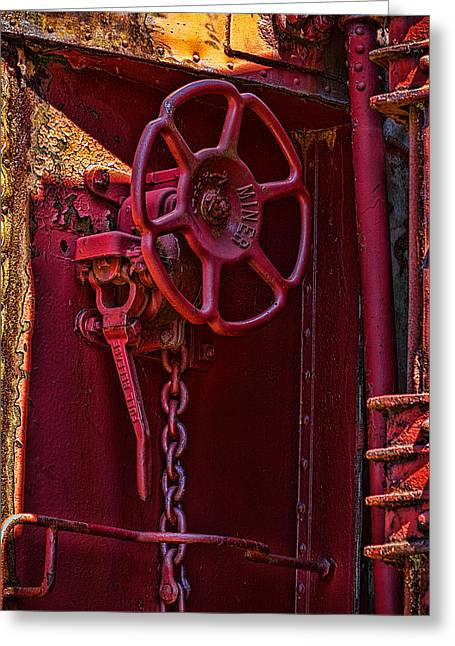 Last Red Caboose Greeting Card by Ken Stanback
