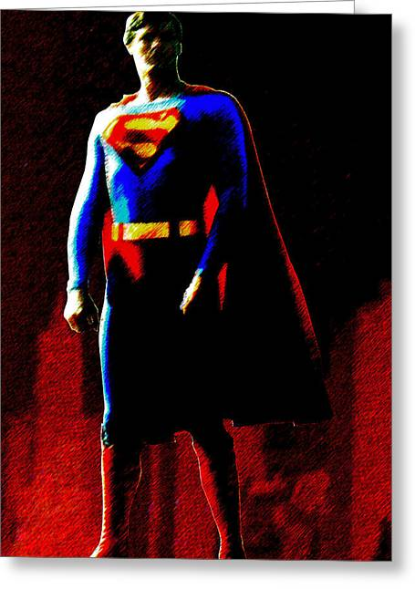 Greeting Card featuring the digital art Last Son Of Krypton by Saad Hasnain