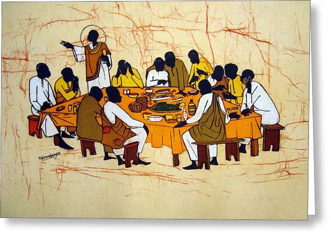 Last Supper Greeting Card by Joseph Kalinda