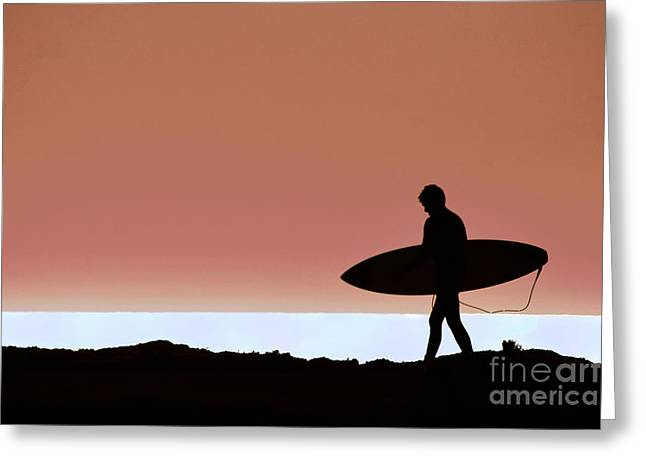Last Wave Greeting Card by David Taylor