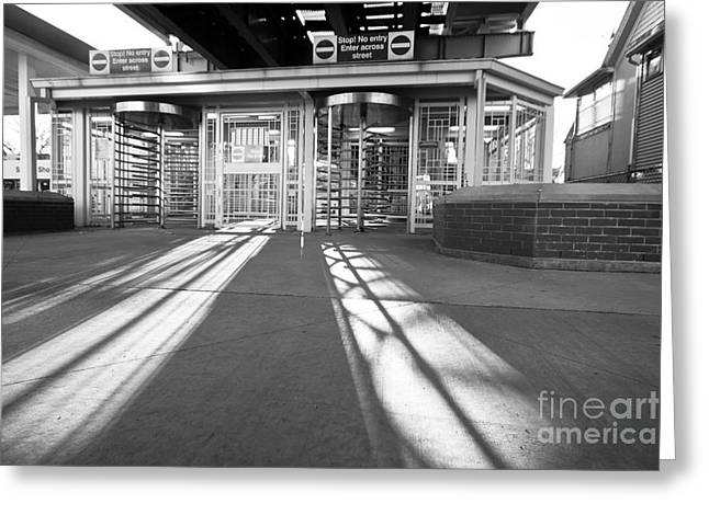 Greeting Card featuring the photograph Late Day Shadows by Lawrence Burry