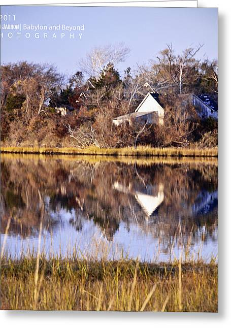 Late Fall Reflection Greeting Card by Vicki Jauron