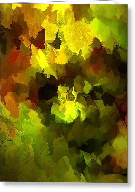 Late Summer Nature Abstract Greeting Card by David Lane
