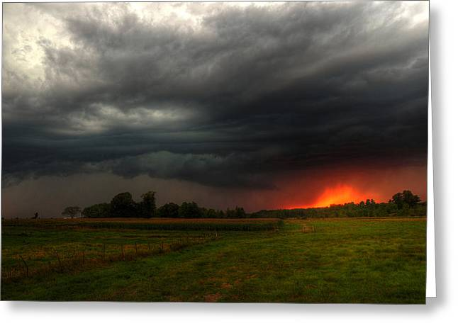 Late Summer Storm Greeting Card