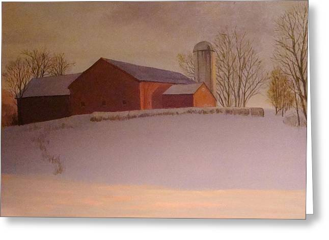 Late Winter At The Lufkin Farm Greeting Card by Mark Haley