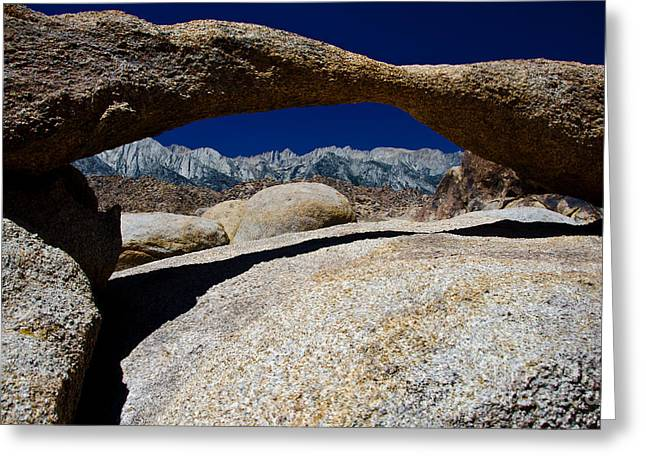 Lathe Arch 3 Greeting Card by Baywest Imaging