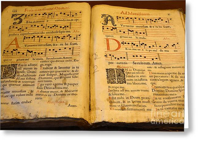 Latin Hymnal 1700 Ad Greeting Card