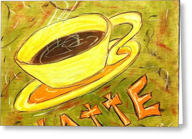 Latte Greeting Card by Lee Halbrook