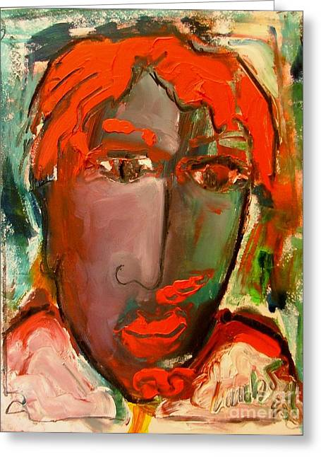 Laubar Face Adele Greeting Card by Laurens  Barnard