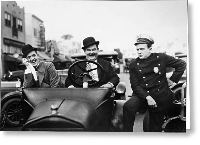 Laurel And Hardy, 1928 Greeting Card