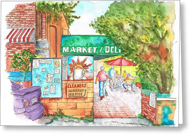 Laurel Canyon Market And Deli In Laurel Canyon, Hollywood Hills, California Greeting Card