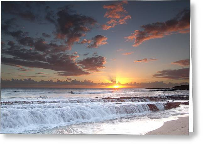 Lava Shelf Waterfall Greeting Card by Roger Mullenhour