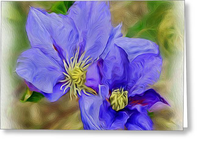 Lavendar Blue Greeting Card