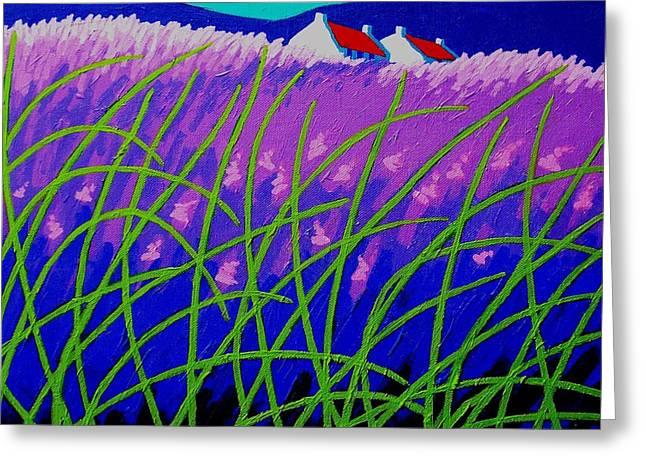 Lavender Hill Greeting Card by John  Nolan