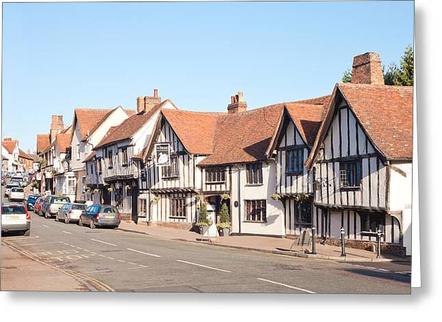 Lavenham High Street Greeting Card by Tom Gowanlock