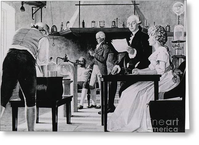 Lavoisier Chemistry Laboratory Greeting Card