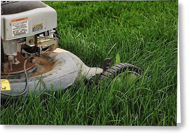 Lawn Mower Greeting Card