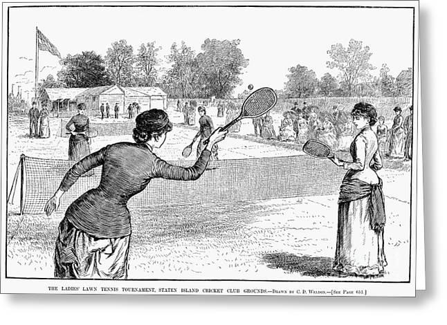 Lawn Tennis, 1883 Greeting Card