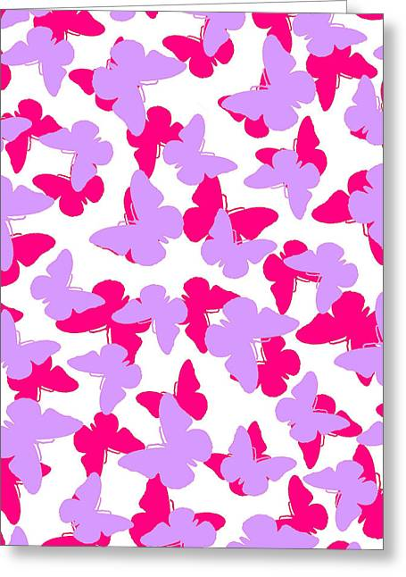Layered Butterflies  Greeting Card by Louisa Knight
