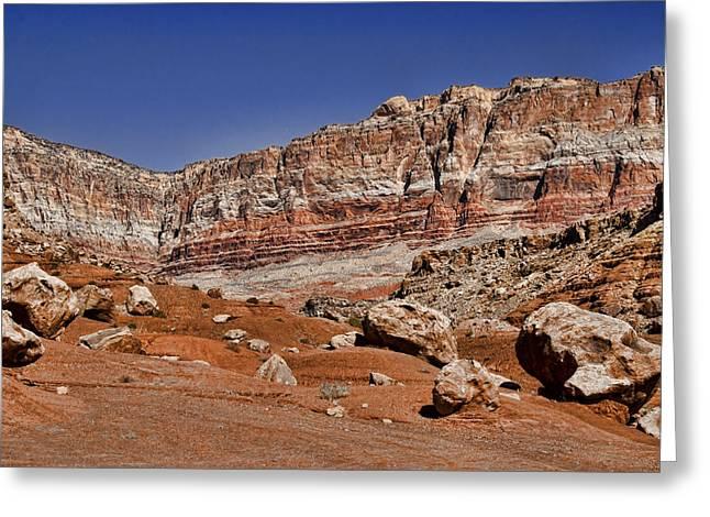 Layered Cliffs Greeting Card by Jon Berghoff
