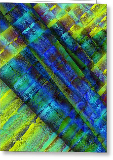 Greeting Card featuring the photograph Layers Of Blue by David Pantuso