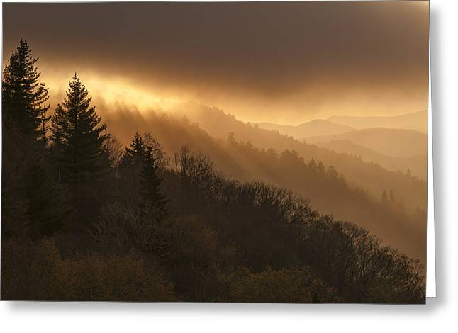 Layers Of Light Greeting Card by Joseph Rossbach