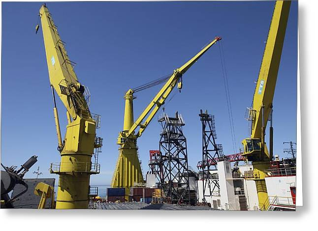 Laying Offshore Gas Pipes, Russia Greeting Card by Ria Novosti
