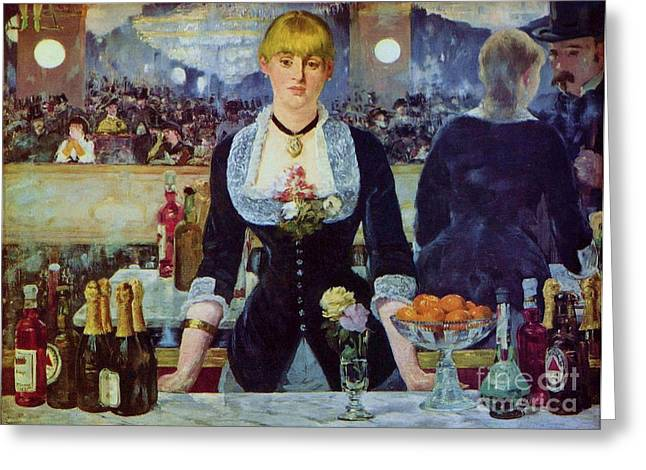Le Bar Des Folies-bergere Greeting Card by Pg Reproductions