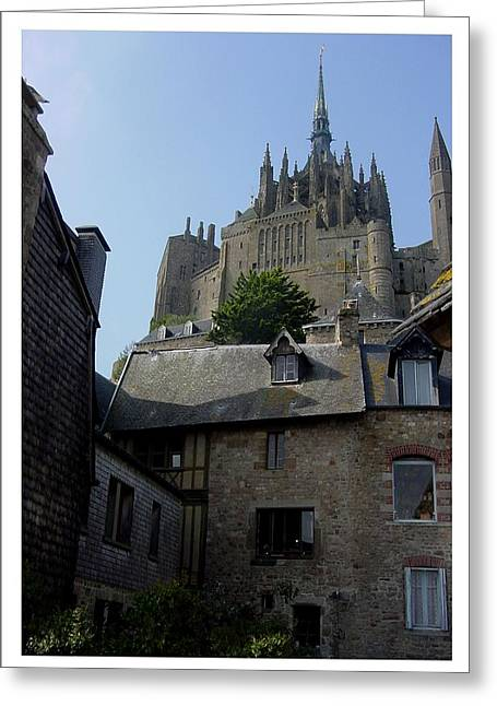 Greeting Card featuring the photograph Le Mont-michel by Frank Wickham