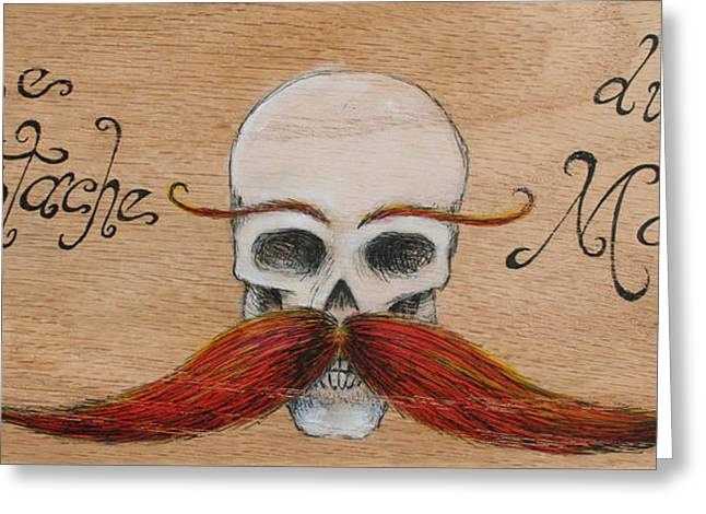 Le Mustache Du Morte Greeting Card by Canis Canon