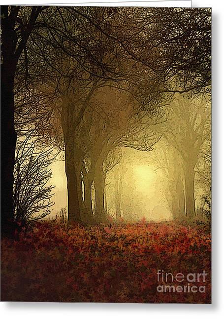 Leaf Path Greeting Card