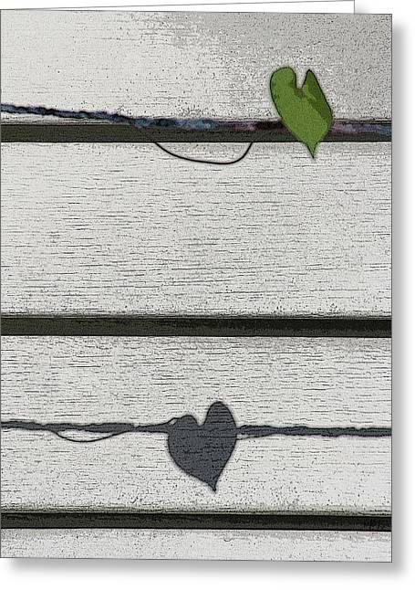 Greeting Card featuring the digital art Leaf Shadow by Holly Ethan