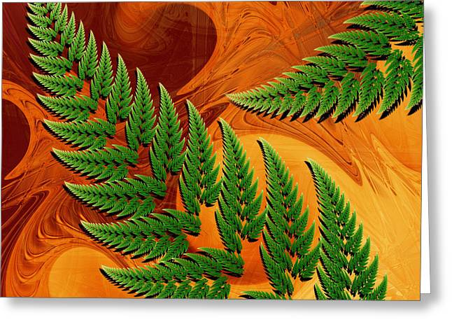 Leaftips In Forest Greeting Card