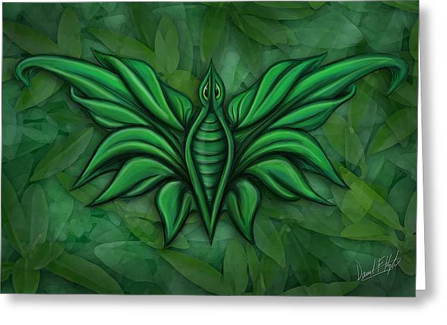 Leafy Bug Greeting Card by David Kyte