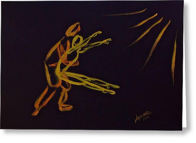 Lean On Me Greeting Card by Adriane Pirro