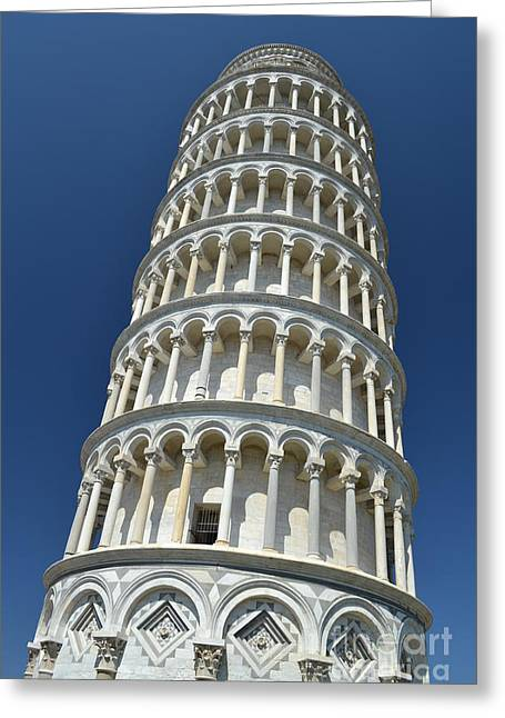 Leaning Tower Of Pisa Greeting Card by Kathleen Pio