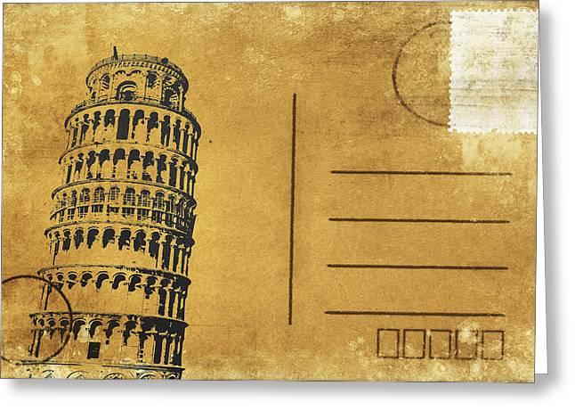 Leaning Tower Of Pisa Postcard Greeting Card by Setsiri Silapasuwanchai