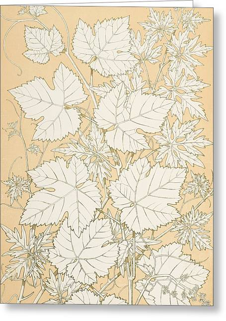 Leaves From Nature Greeting Card by Christopher Dresser