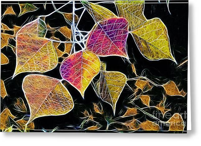 Leaves Greeting Card by Judi Bagwell