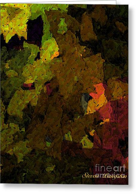 Greeting Card featuring the painting Leaves by Steven Lebron Langston