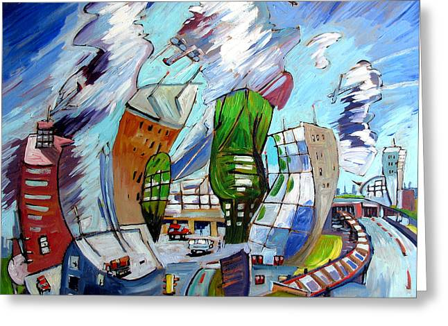 Leaving O'hare On A Jet  Plane Greeting Card by Charlie Spear