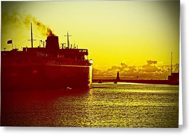 Greeting Card featuring the photograph Leaving Port by Randall  Cogle