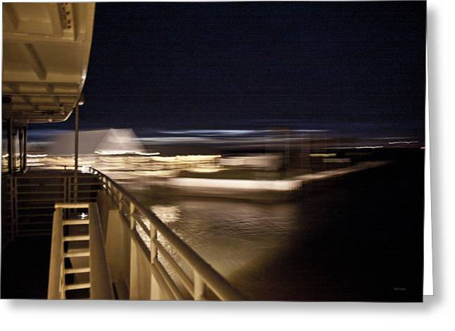 Leaving The Harbor Greeting Card by Betsy Knapp