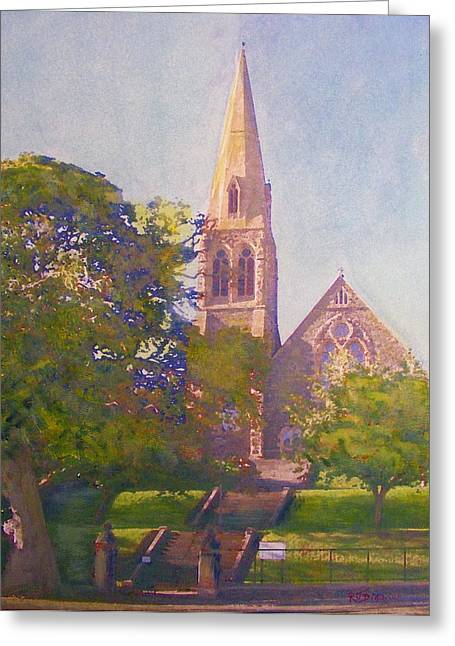 Leckie Memorial  Church  Peebles Scotland Greeting Card