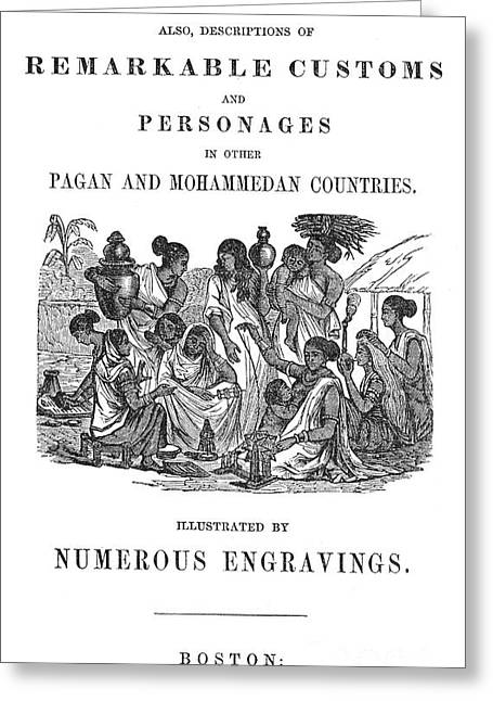 Lectures On India, 1849 Greeting Card