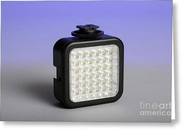 Led Light Greeting Card by Photo Researchers, Inc.