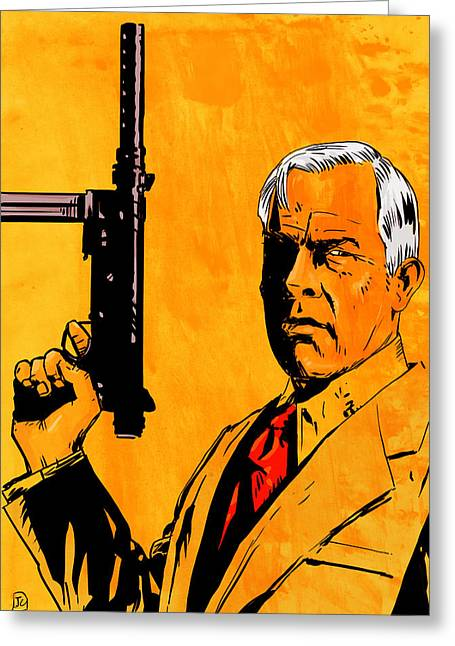 Lee Marvin Greeting Card by Giuseppe Cristiano