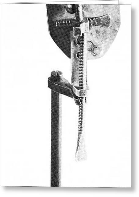 Leeuwenhoek's Microscope Greeting Card by